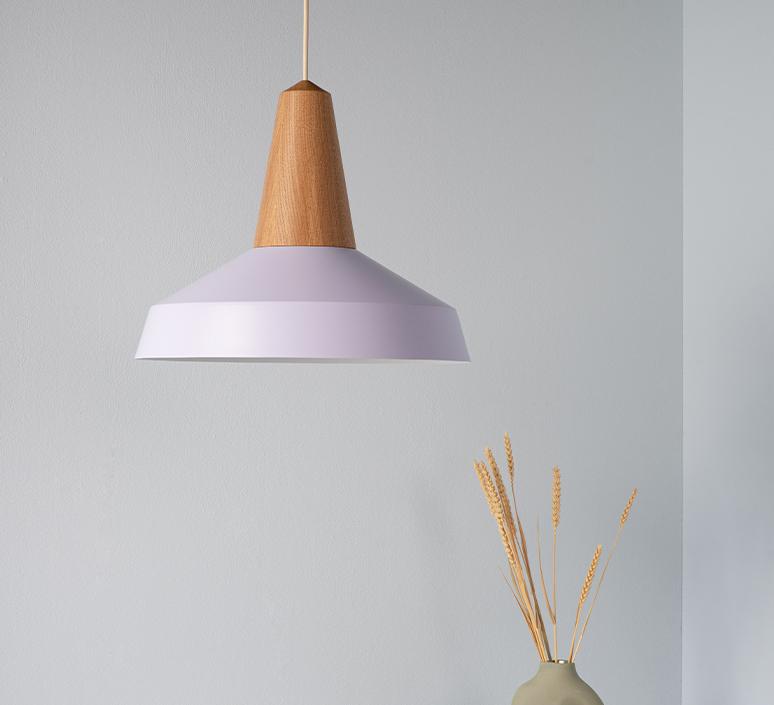 Eikon circus julia mulling et niklas jessen suspension pendant light  schneid eikon circus oak lavender white canopy  design signed nedgis 106523 product