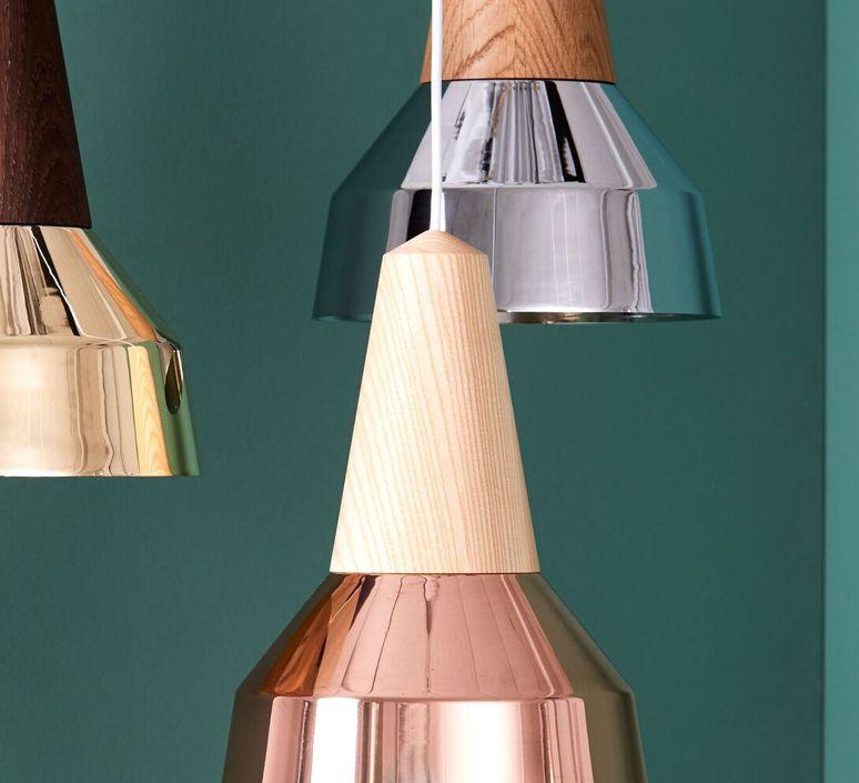 Eikon ray julia mulling et niklas jessen suspension pendant light  schneid ray copper frene  design signed 46848 product