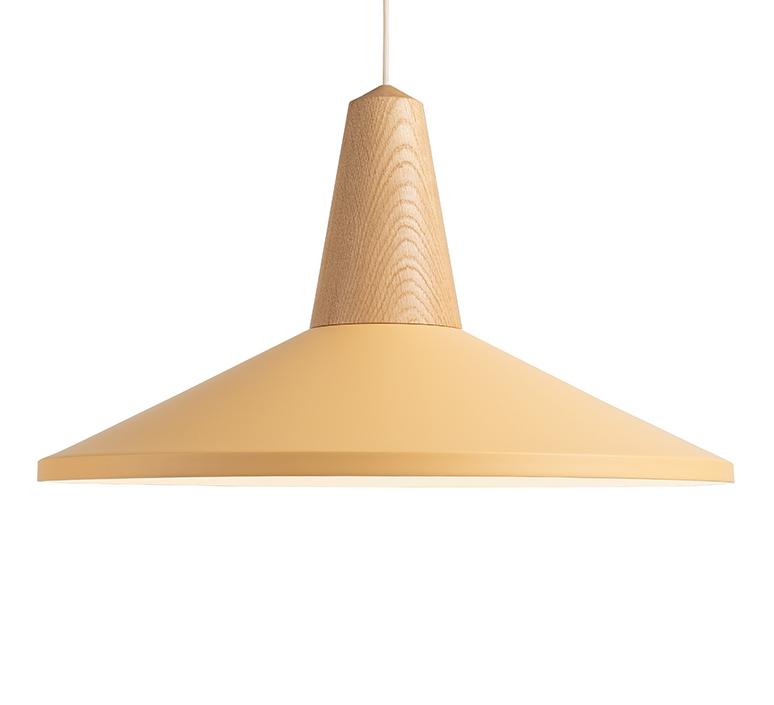 Eikon shell julia mulling et niklas jessen suspension pendant light  schneid eikon shell oak peach sherbet white canopy  design signed nedgis 106556 product