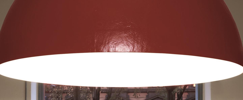 Suspension elios rouge o200cm h100cm slide normal