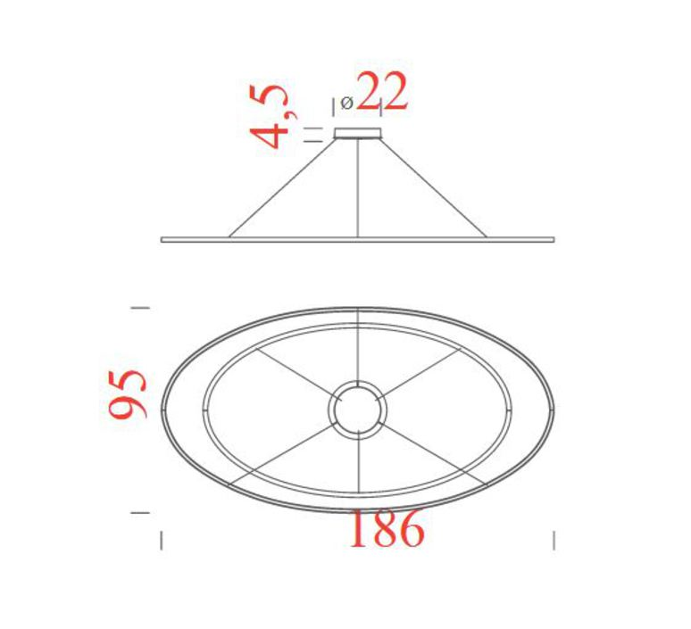Ellisse double mega federico palazzari suspension pendant light  nemo lighting elp low 5a  design signed nedgis 69115 product