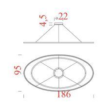 Ellisse double mega federico palazzari suspension pendant light  nemo lighting elp low 5a  design signed nedgis 69115 thumb