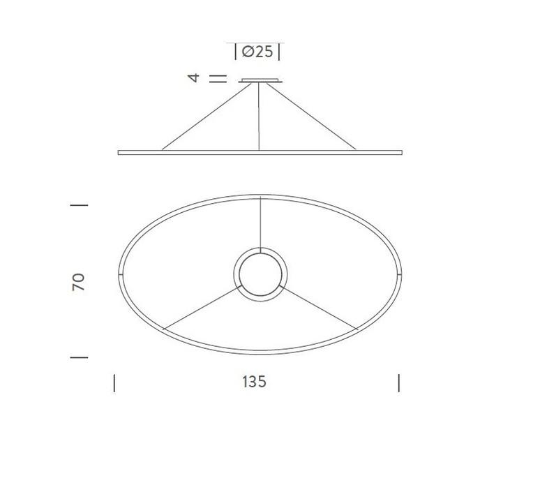 Ellisse double mega federico palazzari suspension pendant light  nemo lighting elp ln2 5a  design signed nedgis 79521 product