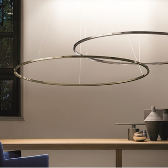 Suspension ellisse major or led uplight 2700k 3450lm l135cm p70cm nemo lighting normal