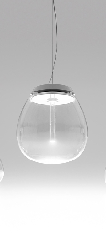 Suspension empatia l blanc o36cm h50cm artemide normal