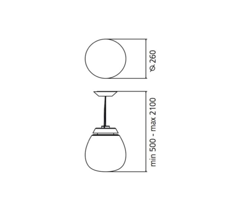Lesbo quaglio simonelli suspension pendant light  artemide 0054010a  design signed nedgis 75731 product