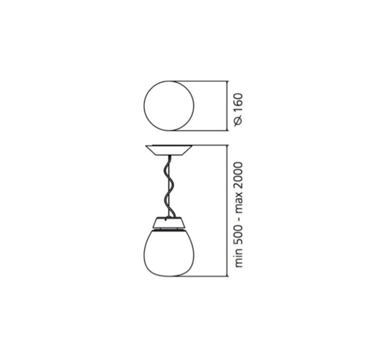Alfa sergio mazza suspension pendant light  artemide 0026010a  design signed nedgis 75727 product
