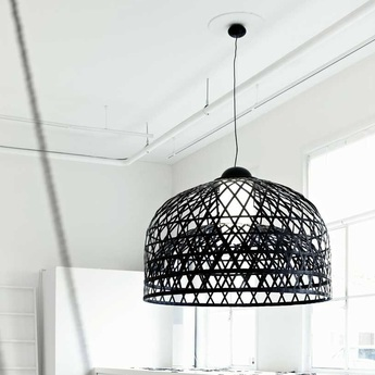 Suspension emperor l noir o115cm h160cm moooi normal