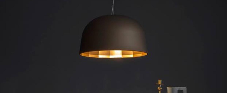 Suspension empty led bronze cuivre satine h32cm oluce normal