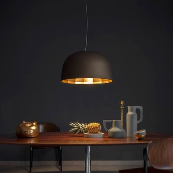 Suspension empty led bronze cuivre satine h32cm oluce normal