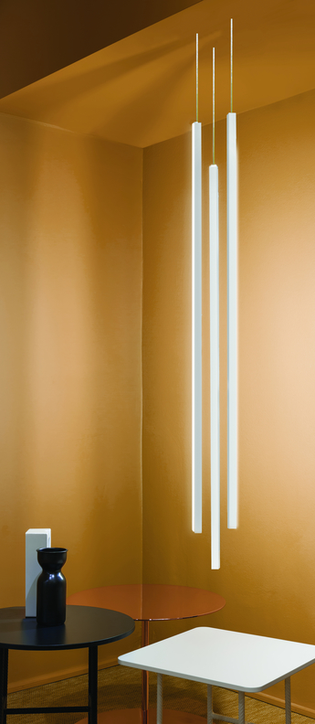 Suspension encastree linescapes blanc led 3000k 2400lm dimmable o2cm h115cm nemo lighting normal