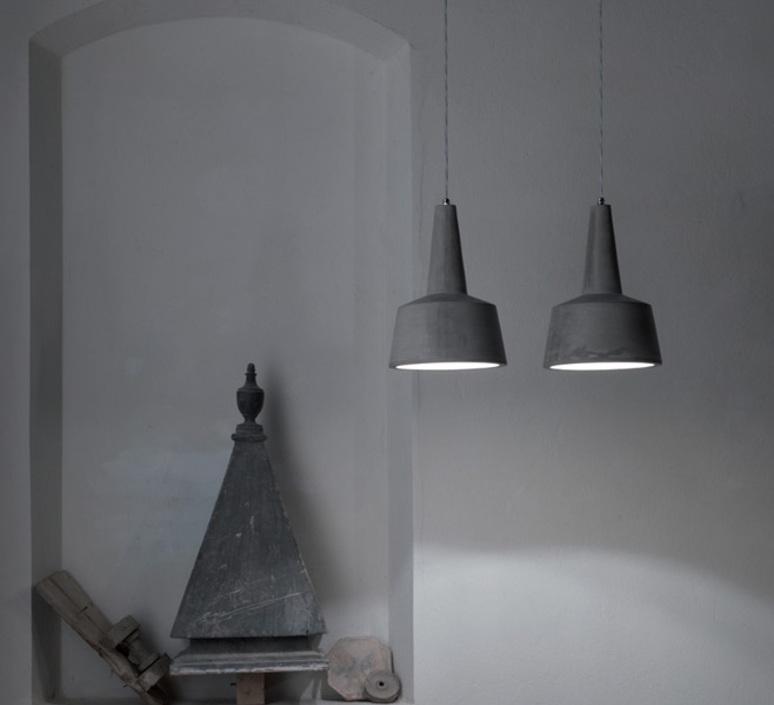 Suspension eolo gris h34cm karman luminaires nedgis for Suspension luminaire gris