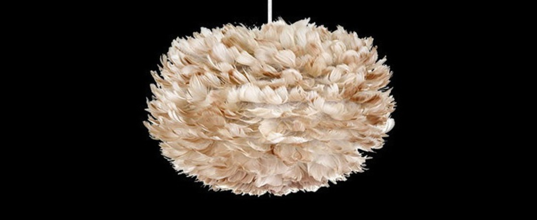 Suspension eos brown m plumes d oie marron o45cm h30cm vita copenhagen normal