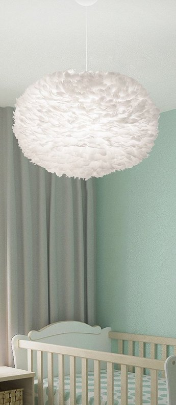 Suspension eos xl blanc plumes d oie o75cm h45cm vita copenhagen normal