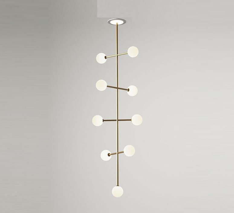 Epic 2 gwendolyn et guillane kerschbaumer suspension pendant light  areti epic 2 brass  design signed nedgis 64599 product