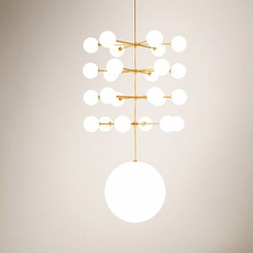 Epic 3 gwendolyn et guillane kerschbaumer suspension pendant light  areti epic 3 glass sphere laiton  design signed nedgis 64277 thumb
