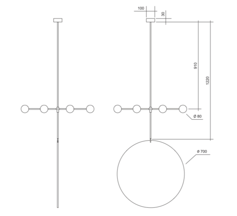 Epic 3 gwendolyn et guillane kerschbaumer suspension pendant light  areti epic 3 rows 1 blanc  design signed nedgis 64268 product