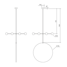 Epic 3 gwendolyn et guillane kerschbaumer suspension pendant light  areti epic 3 rows 1 blanc  design signed nedgis 64268 thumb