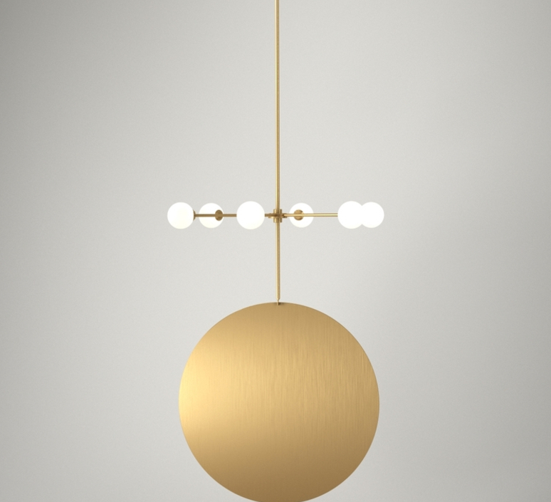 Epic 3 gwendolyn et guillane kerschbaumer suspension pendant light  areti epic 3 rows 1 laiton  design signed nedgis 64270 product