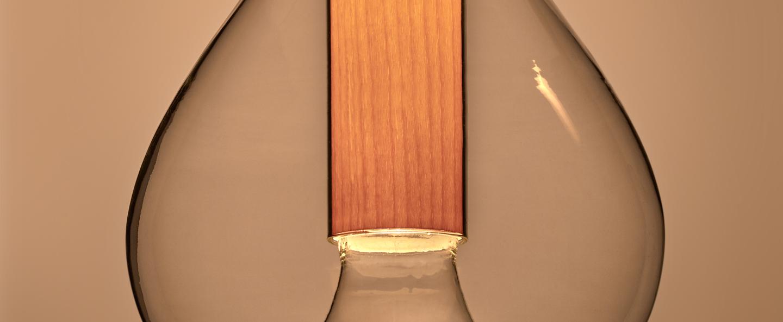 Suspension eris s aluminium hetre naturel o22cm h40cm lzf normal