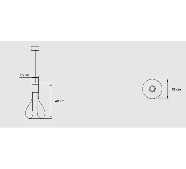 Eris s studio mayice suspension pendant light  lzf eris s bk 22  design signed nedgis 98021 product
