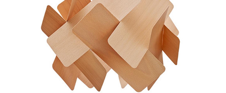 Suspension escape bois naturel d hetre o40cm lzf normal