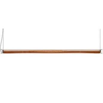 Suspension estela s bois naturel de cerisier led 3000k 2400lm l150cm h6cm lzf normal