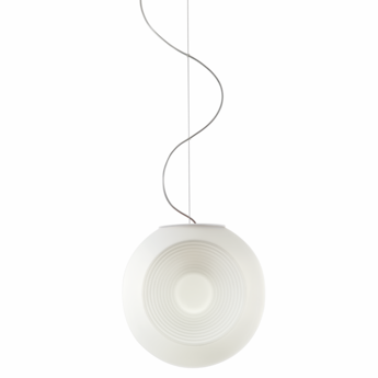 Suspension eyes f34 blanc o35cm h33 5cm fabbian normal