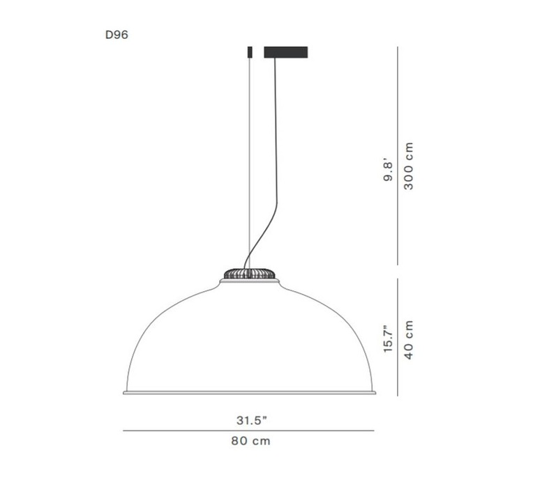 Farel d96 diego sferrazza suspension pendant light  luceplan 1d960 1d0530 1d960c0000a3  design signed 56258 product