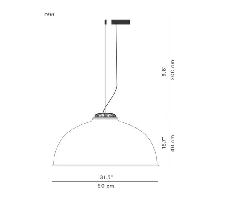 Farel d96 diego sferrazza suspension pendant light  luceplan 1d960 1d0530 1d960c0000b2  design signed 56261 product