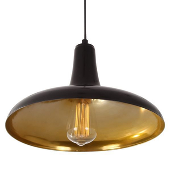 Suspension fatima noir laiton o31 5cm h20cm mullan lighting normal