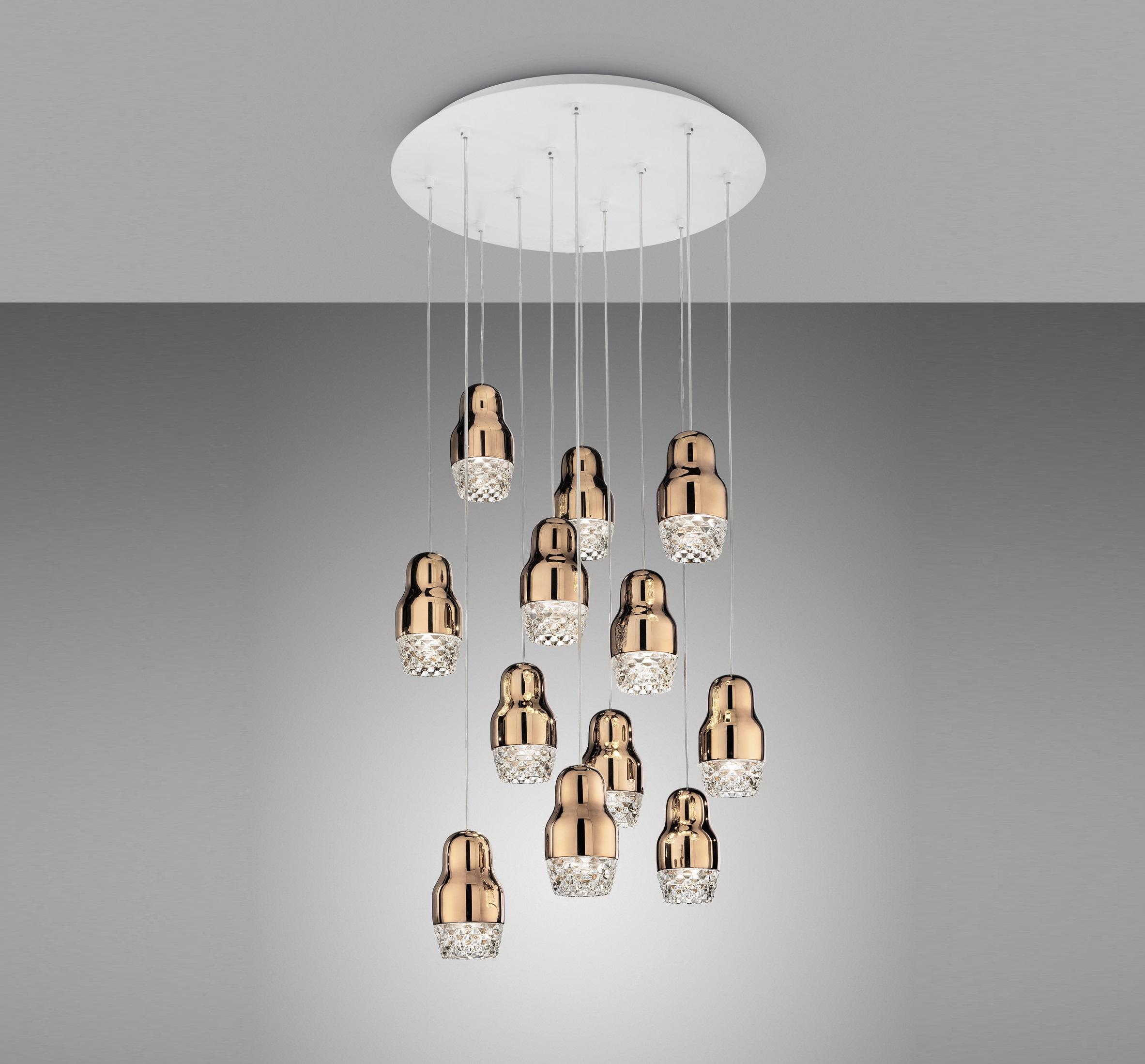 Pendant light fedora 12 led bronze glass 42cm axo light pendant light fedora 12 led bronze glass 42cm axo light nedgis lighting aloadofball Gallery