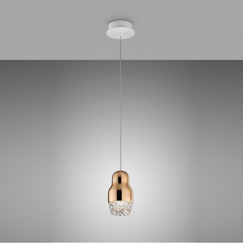 Suspension fedora or rose verre led h19cm axo light normal
