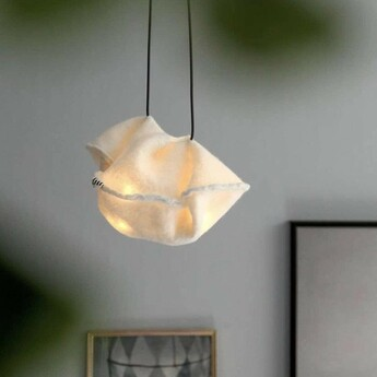 Suspension felted lighting cloud blanc o23cm h29cm ekaterina galera normal
