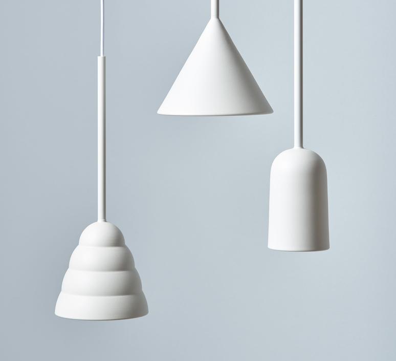 Figura arc julia mulling et niklas jessen suspension pendant light  schneid figura arc blanc  design signed nedgis 66013 product