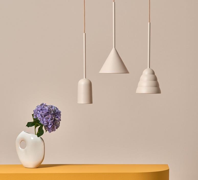 Figura cone julia mulling et niklas jessen suspension pendant light  schneid figura cone beige  design signed nedgis 66028 product