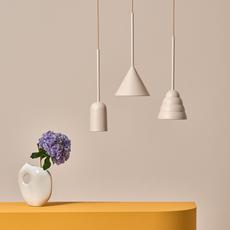 Figura cone julia mulling et niklas jessen suspension pendant light  schneid figura cone beige  design signed nedgis 66028 thumb