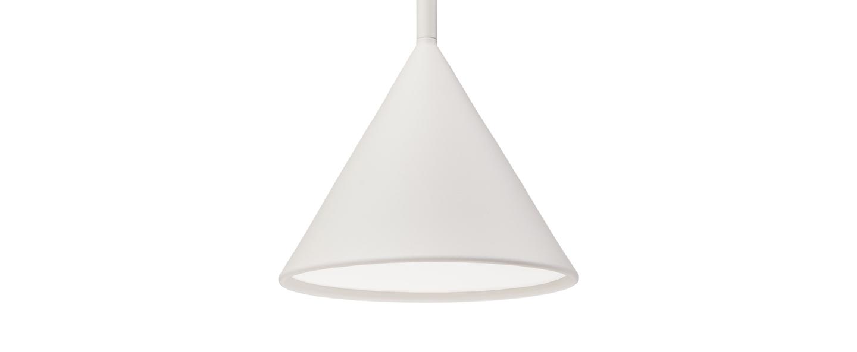 Suspension figura cone blanc o20cm h45cm schneid normal