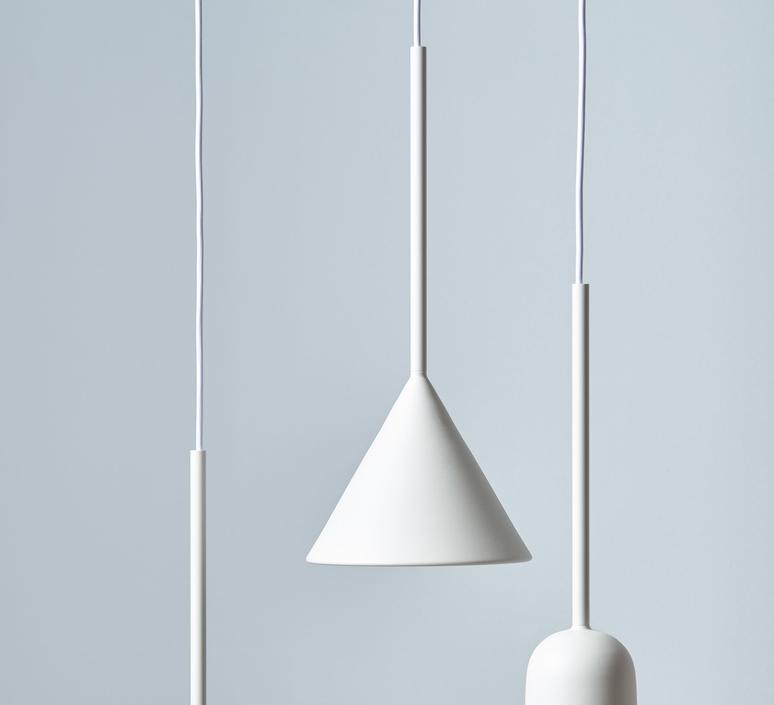 Figura cone julia mulling et niklas jessen suspension pendant light  schneid figura cone blanc  design signed nedgis 66035 product