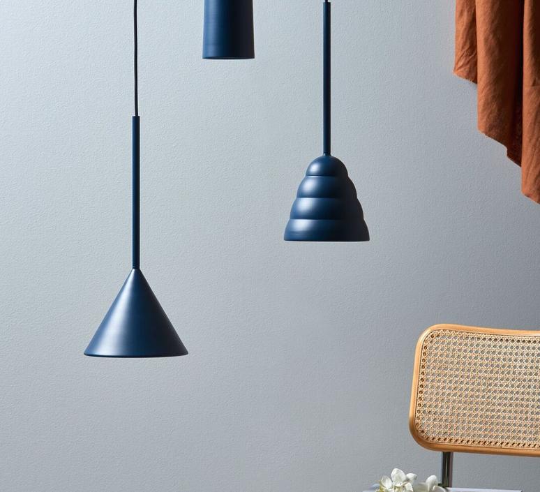 Figura cone julia mulling et niklas jessen suspension pendant light  schneid figura cone bleu  design signed nedgis 66036 product