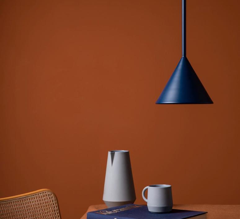 Figura cone julia mulling et niklas jessen suspension pendant light  schneid figura cone bleu  design signed nedgis 66376 product