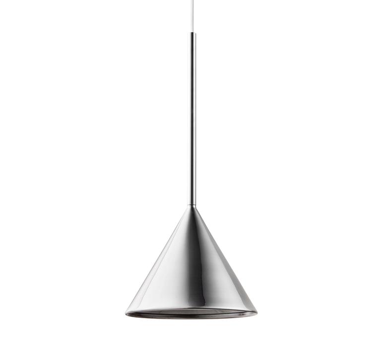 Figura cone julia mulling et niklas jessen suspension pendant light  schneid figura cone chrome  design signed nedgis 66025 product