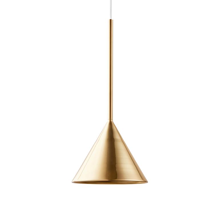 Figura cone julia mulling et niklas jessen suspension pendant light  schneid figura cone laiton  design signed nedgis 66026 product