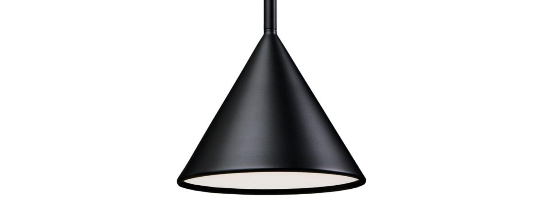 Suspension figura cone noir o20cm h45cm schneid normal
