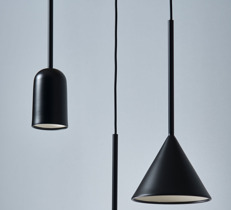 Figura cone julia mulling et niklas jessen suspension pendant light  schneid figura cone noir  design signed nedgis 66037 product