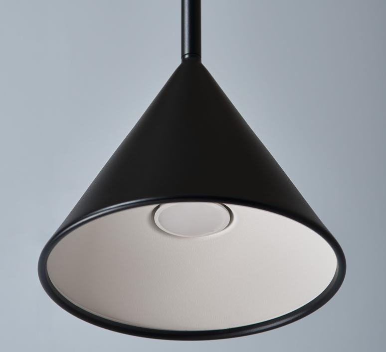 Figura cone julia mulling et niklas jessen suspension pendant light  schneid figura cone noir  design signed nedgis 66038 product