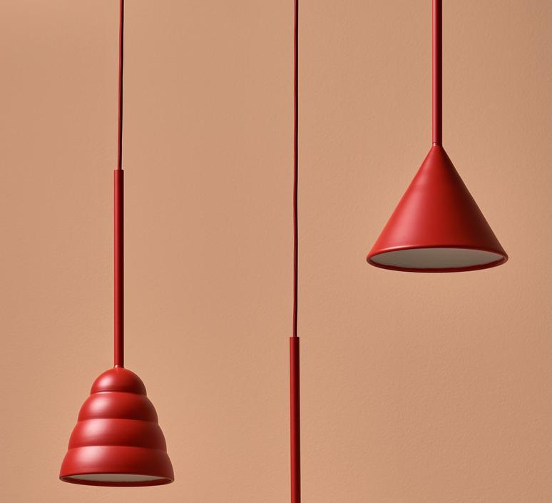 Figura cone julia mulling et niklas jessen suspension pendant light  schneid figura cone orange  design signed nedgis 66031 product