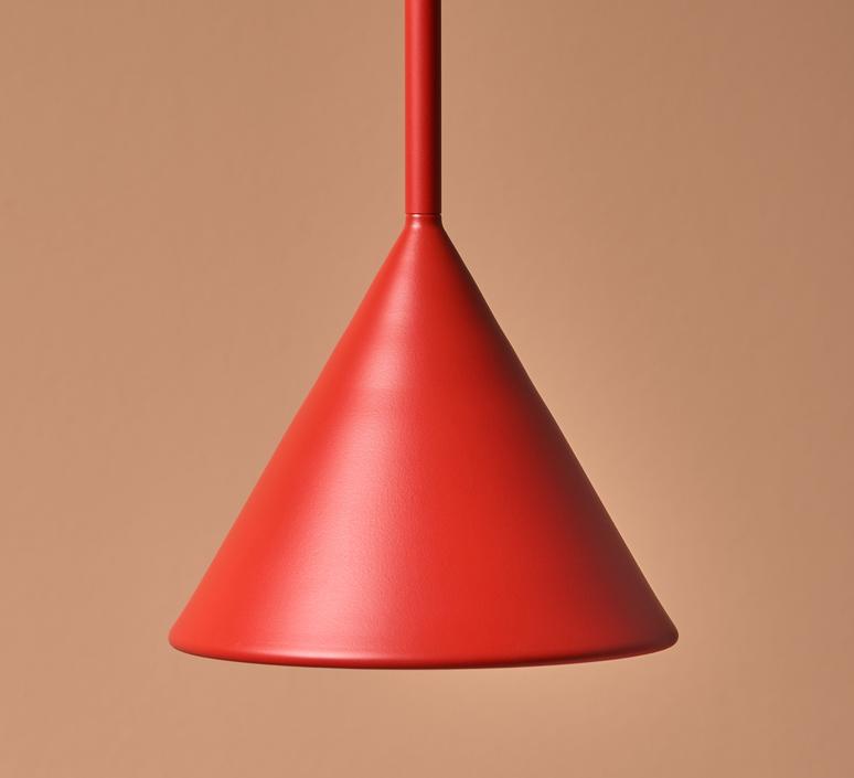 Figura cone julia mulling et niklas jessen suspension pendant light  schneid figura cone orange  design signed nedgis 66032 product