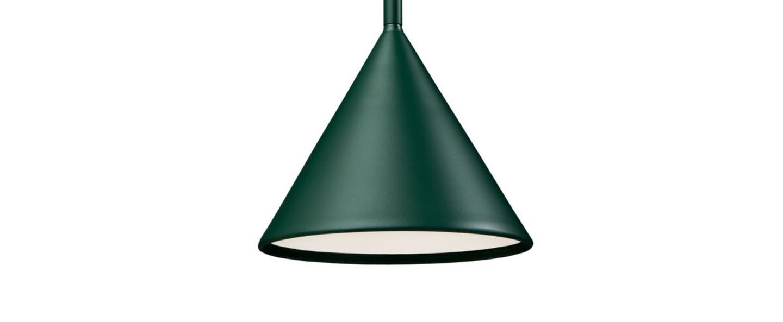 Suspension figura cone vert o20cm h45cm schneid normal