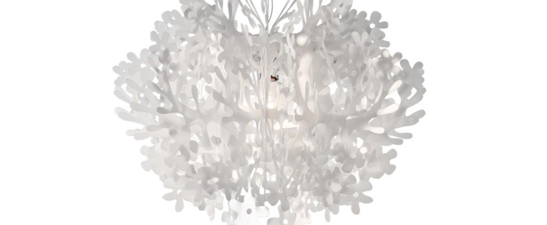 Suspension fiorella blanc led o76cm h58cm slamp normal